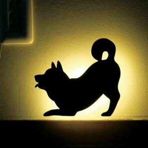 Optically Controlled Sound Control Dog Night Light Shadow LED Projection Lamp -