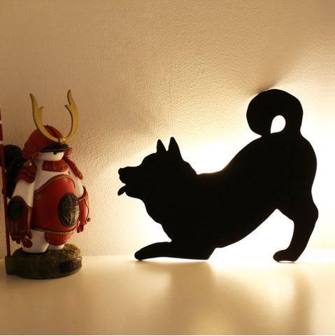 Affordable Optically Controlled Sound Control Dog Night Light Shadow LED Projection Lamp