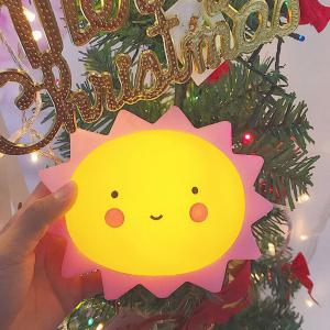Cartoon Lovely Sun Shape Children Sleeping Bedroom Night Light -