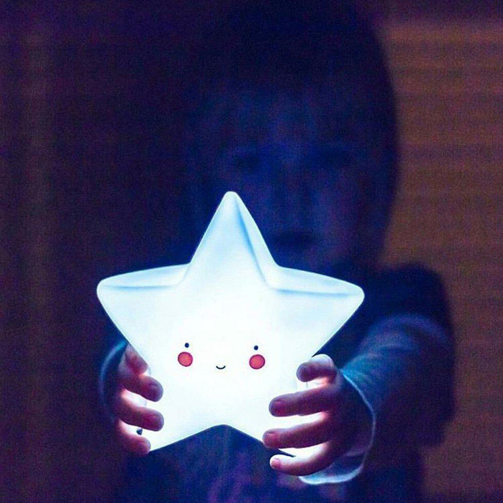 Trendy Cartoon Lovely White Star Shape Children Sleeping Bedroom LED Night Light
