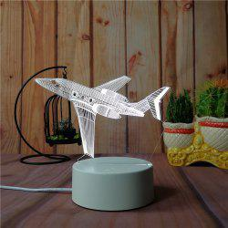 3D Airplane Small Night Light Plug LED Stereo Bedroom Bedside Lamp -