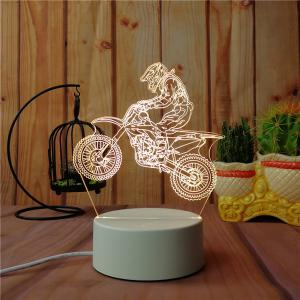 3D Road Motorcycle Small Night Light Plug LED Stereo Bedroom Bedside Lamp -