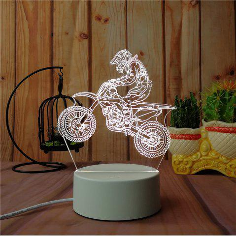 Sale 3D Road Motorcycle Small Night Light Plug LED Stereo Bedroom Bedside Lamp