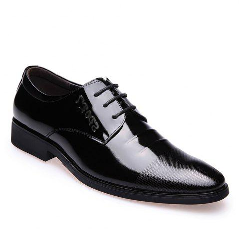 Discount Leather Glossy Frenulum Shoe