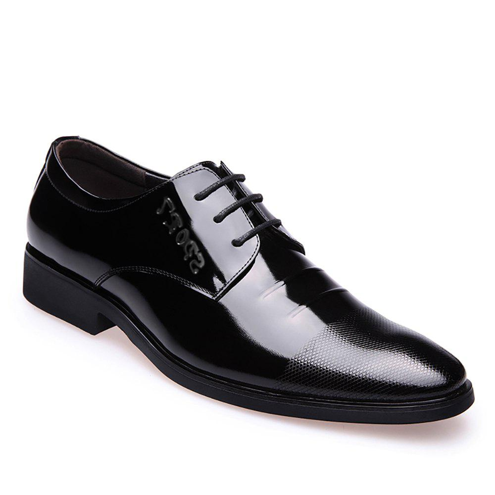 Cheap Leather Glossy Frenulum Shoe