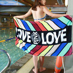 Cotton Stripes Printing Beach Towel -