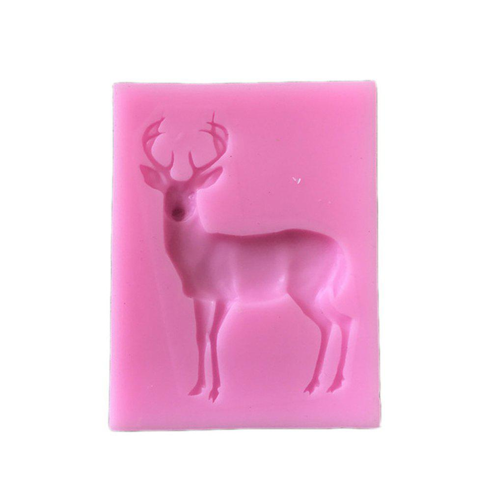 Store 2 Pcs Silicone Molds Reindeer Form Christmas Deer Sugar Fondant Cake Decorating Mold Gumpaste Chocolate Kitchen Baking