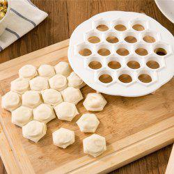 2 Pcs Kitchen Pastry Tools DIY Dumpling Mold Maker Dough Press Dumpling 19 Holes Dumplings Maker Mold -