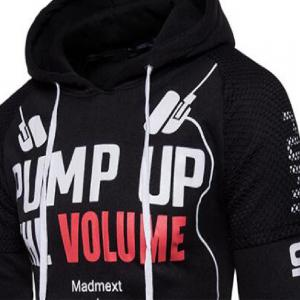 Men Fashionable Printing Letter Hoodie -