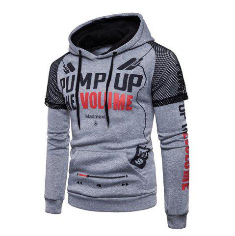 Chic Men Fashionable Printing Letter Hoodie