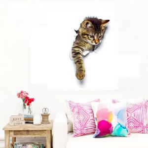 3D Cute Cats Wall Stickers for Kids Animals Cartoon Cats Decals for Nursery Room -