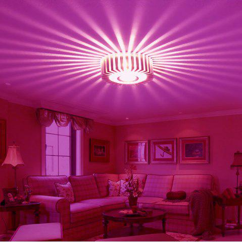 Pink Light Jiawen Led Wall Light Lamp Round Sunflower 1w Aluminum ...