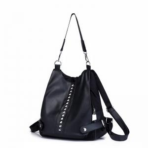 New Retro Fashion Women's Backpack Casual Rivet Multi-function Messenger Bag -
