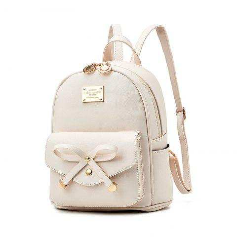 Cheap Women's Backpack Fashion Solid Color Zipper Casual Bag