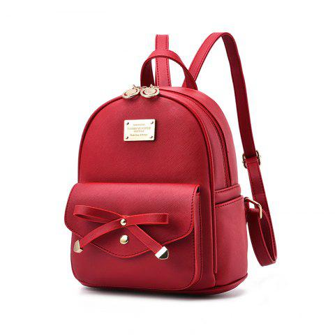 New Women's Backpack Fashion Solid Color Zipper Casual Bag