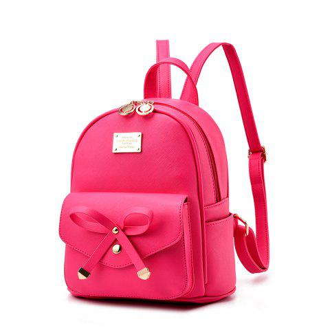 Best Women's Backpack Fashion Solid Color Zipper Casual Bag