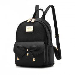 Women's Backpack Fashion Solid Color Zipper Casual Bag -
