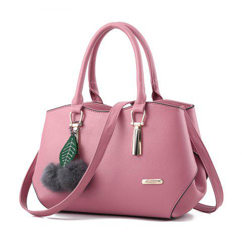 Outfit Women's Handbag Leaves Fur Ball Pendant Aodorable Solid Handbag
