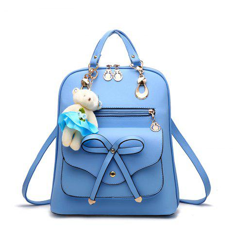 Discount Women's Backpack Adorable Bowknot Bear Pendant Casual Durable School Bag