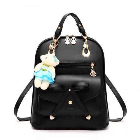 Outfits Women's Backpack Adorable Bowknot Bear Pendant Casual Durable School Bag