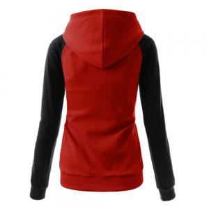 Fashion Hit Color Pocket Hoodie -