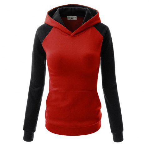 Discount Fashion Hit Color Pocket Hoodie