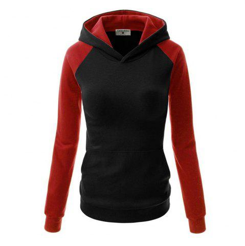 Outfit Fashion Hit Color Pocket Hoodie