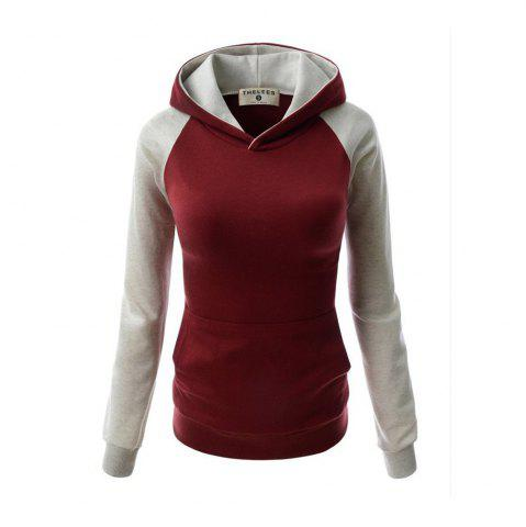 Online Fashion Hit Color Pocket Hoodie