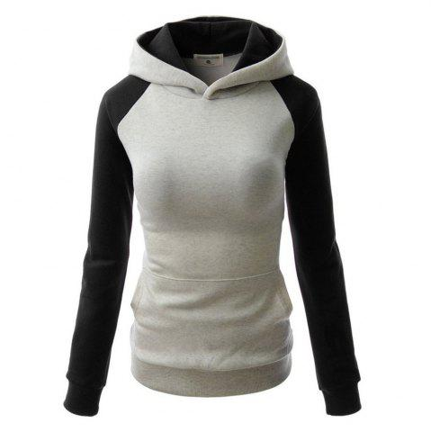 Outfits Fashion Hit Color Pocket Hoodie