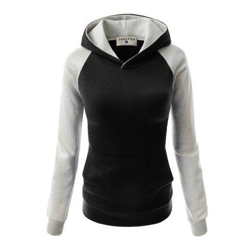 Buy Fashion Hit Color Pocket Hoodie