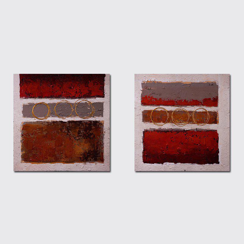 Fancy QiaoJiaHuaYuan No Frame Canvas Simple Living Room Bedroom Double - Link Abstract Decoration Hanging Print