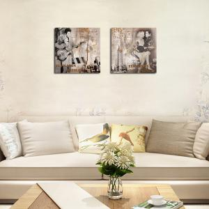QiaoJiaHuaYuan No Frame Canvas Drawing Room Background Decoration Hanging Print -