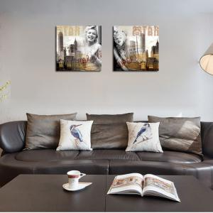 QiaoJiaHuaYuan No Frame Canvas Living Room Sofa Background Decoration Print -
