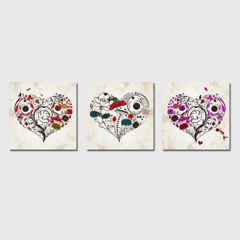 Sale QiaoJiaHuaYuan No Frame Canvas Living Room Sofa Background Triplet Picture Simple Abstract Heart Decoration Hanging