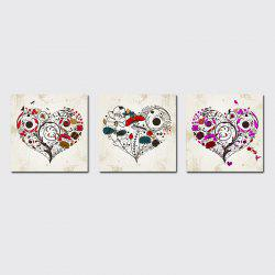 QiaoJiaHuaYuan No Frame Canvas Living Room Sofa Background Triplet Picture Simple Abstract Heart Decoration Hanging -