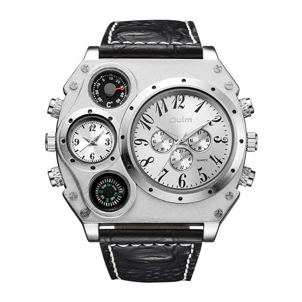 Store Large Dial Multi Time Man Watch