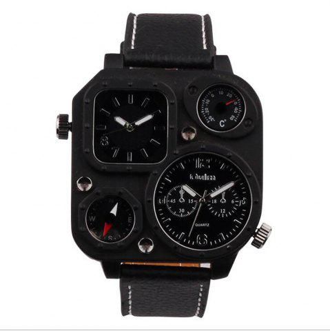 Buy Male Fashion Compass Thermometer in Two Places Quartz Watch
