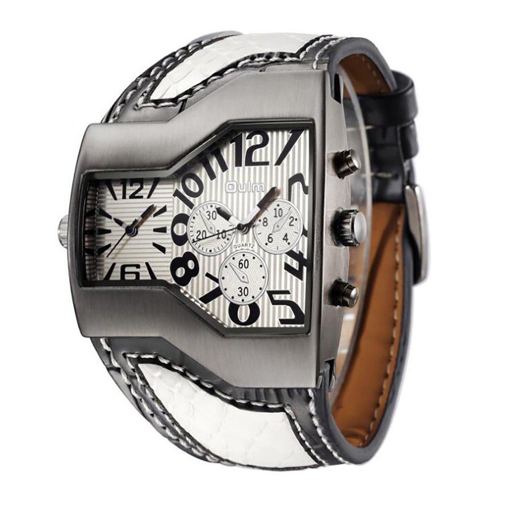 Fashion Personality Two Time Zone Tide Watch