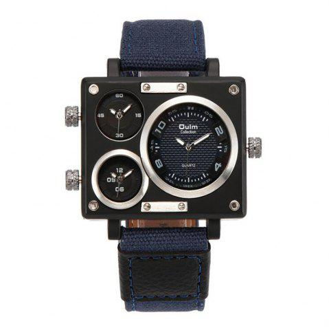 Latest Square Canvas Wrist Watch in Multi Time Foreign Trade Area