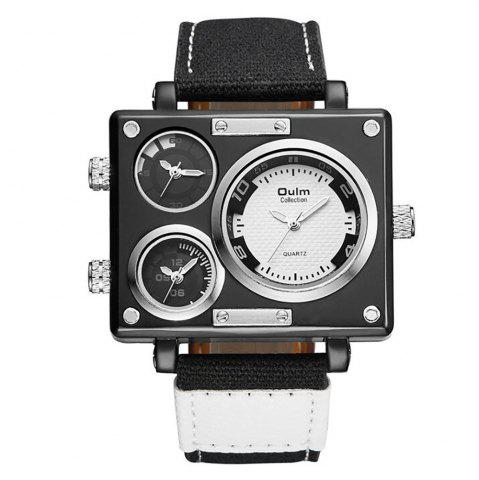 Fancy Square Canvas Wrist Watch in Multi Time Foreign Trade Area