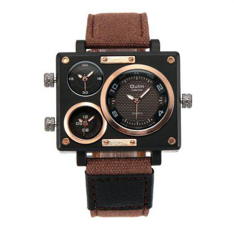 Cheap Square Canvas Wrist Watch in Multi Time Foreign Trade Area