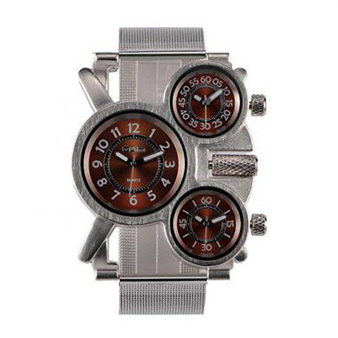 Chic Male Wristwatch of Alloy Strap in Multi Time Foreign Trade Area