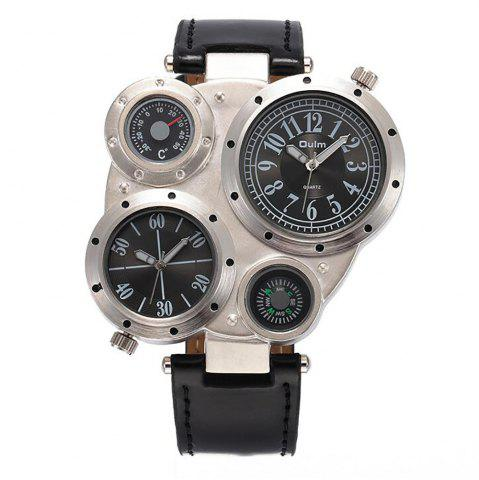 Affordable Foreign Trade Double Time Zone Men's Personality Watch