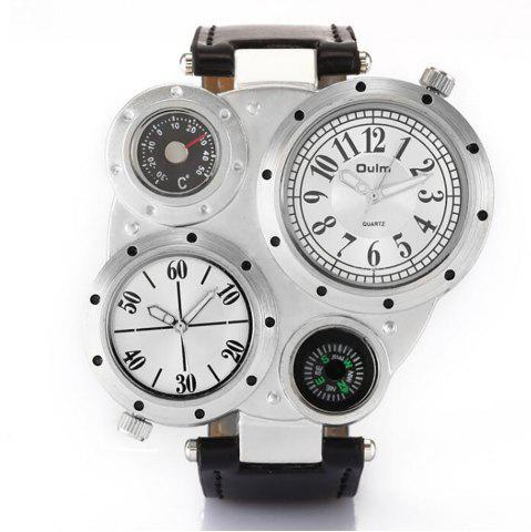 Sale Foreign Trade Double Time Zone Men's Personality Watch