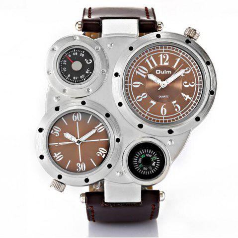 Latest Foreign Trade Double Time Zone Men's Personality Watch