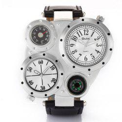 Foreign Trade Double Time Zone Men's Personality Watch -