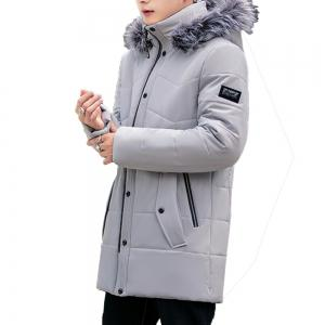 2018 Men's Warm Fashion Long Cotton Coat -