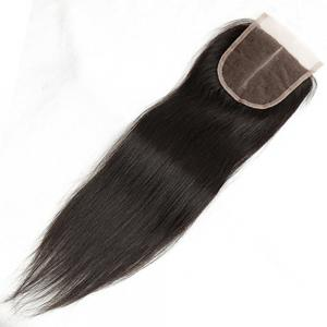 Front Top Invisible Lace Closure Middle Part Brazilian Straight Hair Extension 18 inch -