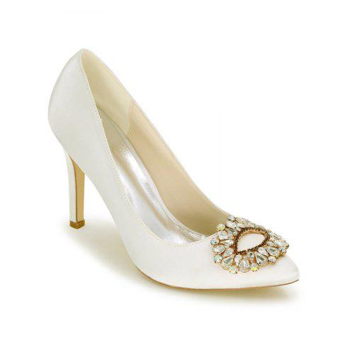 New Wedding Shoes with High Heels And Pointy Toes