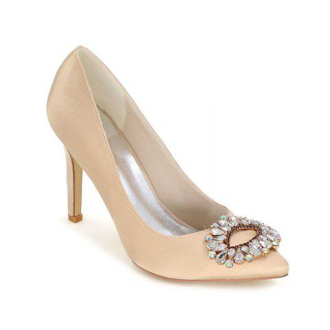 Fancy Wedding Shoes with High Heels And Pointy Toes